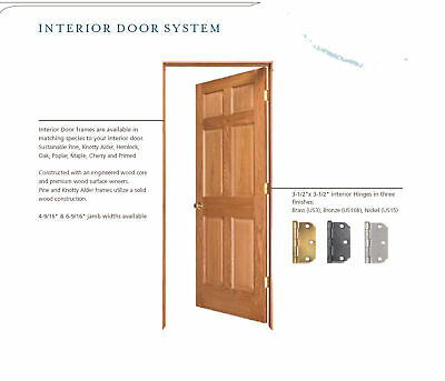 Flush solid core birch stain grade interior wood doors 68 for Flush solid core wood interior doors