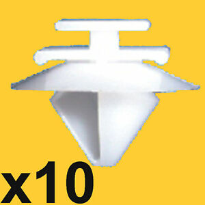 10-Peugeot-106-206-306-307-806-Exterior-Door-Side-Moulding-Bumpstrip-Trim-Clips