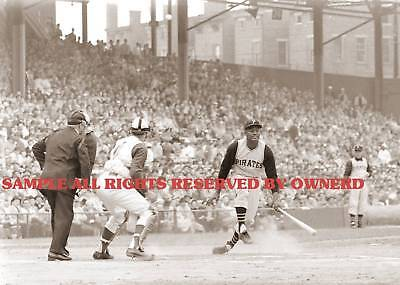 ROBERTO CLEMENTE GREAT AT PLATE PHOTOGRAPH 5x7 ORIGINAL on Rummage