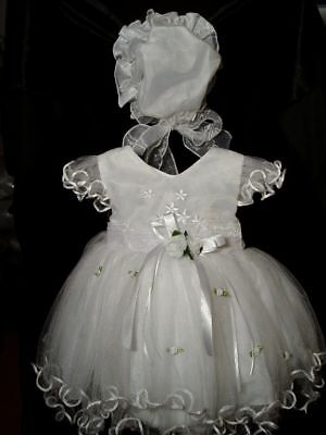 New-Girls-Christening-Wedding-PartyPageant-Dress-Bonnet