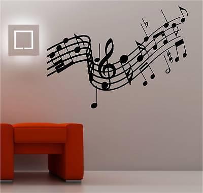 Huge Musical Notes Music Wall Art Sticker Lounge Vinyl Ebay