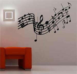 HUGE MUSICAL NOTES MUSIC WALL ART sticker lounge vinyl
