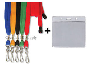 LANYARD-Lot-of-50-Breakaway-Strap-50-ID-Badge-Holders