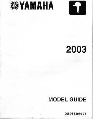 2003 Yamaha Outboard Motor Model Guide Manual
