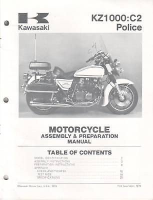 Kawasaki Kz1000 Online Manual
