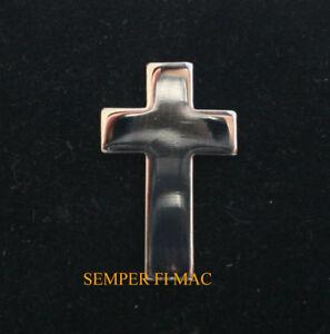 SILVER-CROSS-COLLAR-HAT-PIN-US-JESUS-CHAPLAIN-GOD-CHRISTIAN-CLERGY-PASTOR-PRIEST