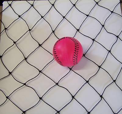 50' X 15' Batting Cage Netting -2 Black Nylon 15