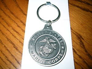 U-S-MARINE-CORPS-SAINT-MICHAEL-PEWTER-KEY-RING