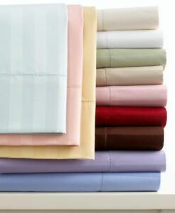 CHARTER-CLUB-500-TC-Damask-Stripe-Sheet-Set-QUEEN-Taupe