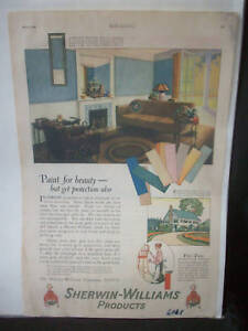 sherwin williams paint co adverting paper sheet c588 ebay. Black Bedroom Furniture Sets. Home Design Ideas