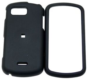 Samsung Moment M900 SPH-M900 Faceplates Hard Phone Snap On Cover Case BLACK