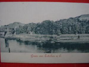 9066-AK-Tetschen-Bruecke-Elbe-Kuehne-Ufer-Boehmen-1900-PC