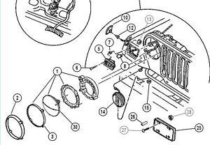 Jeep Wrangler TJ front fender side marker LAMP oem new