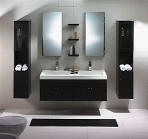 Bathroom vanity modern bathroom vanity set double sink - 52 inch bathroom vanity double sink ...