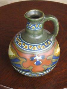 Vintage-Gouda-Pottery-Holland-Candia-Jug-Pitcher