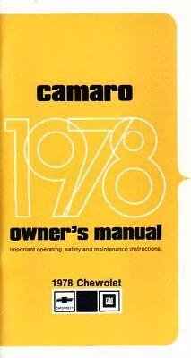 1978 Camaro Owner's Manual