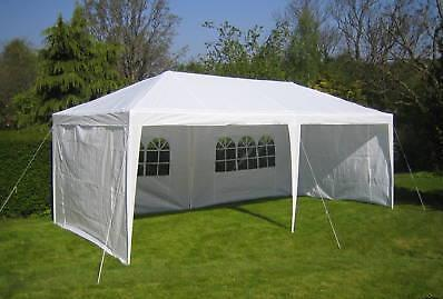 NEW WHITE 10 X 20 PE OUTDOOR CANOPY GAZEBO PARTY TENT