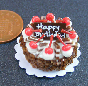Round-Chocolate-Cake-Dolls-House-Miniature-NC80