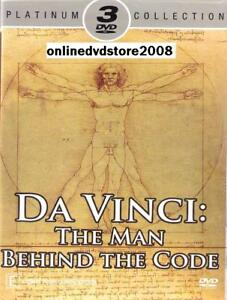 LEONARDO DA VINCI - THE MAN BEHIND THE CODE (3 DVD SET) NEW & SEALED