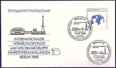 Berlin 1988: IWF! FDC der Nr. 817 mit Ersttags-Sonderstempeln! Gut erhalten!