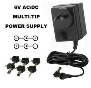 6 VOLT 800mA AC/DC POWER SUPPLY ADAPTER 6V 0.8A 6 V 800 MA