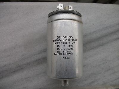 Nos Siemens 10uf 750v Mkv Mkp In Oil B25834-k5106-k009hi End Capacitor
