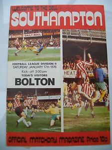 Programme-Southampton-v-Bolton-Wanderers-17-01-1976