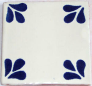 9  Decorative Talavera Mexican Clay Tile 4x4