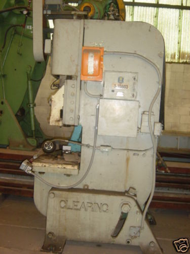 """CLEARING 45 TON PUNCH PRESS SHUT HEIGHT 12"""" BED 28""""X18"""""""