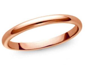 Solid-Silk-Fit-Plain-Band-Ring-14K-Rose-Pink-Gold-2mm