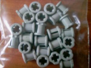 3713 Light Bluish Grey x 10 Lego Technic Bush Part No