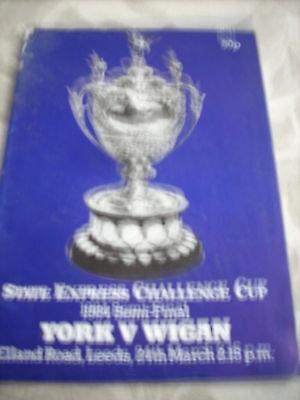 24.3.84 York v Wigan programme @ Leeds CCSF