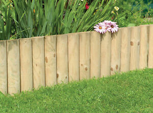 NEW 30CM 12 LOG ROLL NATURAL GARDEN BORDER FLOWER BED LAWN EDGING FENCE PATH