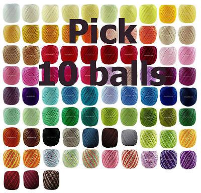 10-x-65m-ANNE-65-Crochet-Cotton-Knitting-Thread-Yarn-3-e-mail-me-Colour-Codes