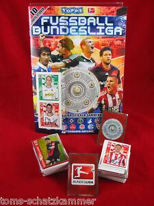 Topps-Bundesliga-2010-2011-Satz-komplett-Album-alle-Sticker-Leeralbum-10-11