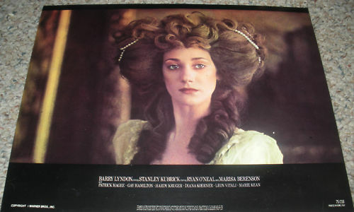 BARRY LYNDON LOBBY CARD of flawless MARISA BERENSON