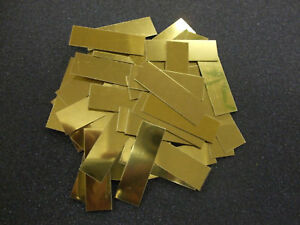 100-x-GOLD-BLANK-ADHESIVE-TROPHY-PLAQUES-PLATES-44x16mm