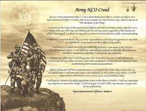 Army NCO Creed Personalize with Name Recognition, Graduates, Wall ...