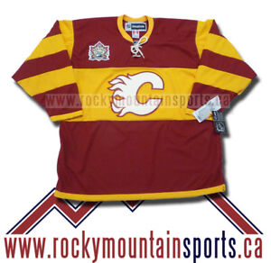 CALGARY-FLAMES-2011-HERITAGE-CLASSIC-JERSEY-SIZE-XL