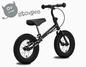 Stomp-Stompee-Kids-Childs-Training-Balance-Bike-VERY-Light-Weight-BLACK