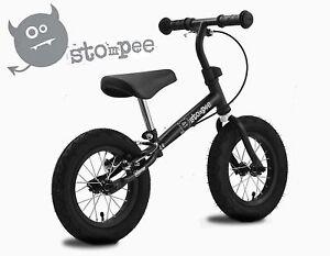 Stomp-Stompee-Kids-Childs-Training-Balance-Bike-VERY-Light-Weight-BLACK