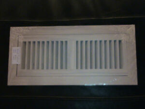 Flush mount oak grill wood floor register vent 4x12 ebay for 6x12 wood floor register