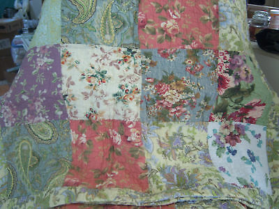 French Country Cottage Tuscan Patchwork Queen Quilt Shams
