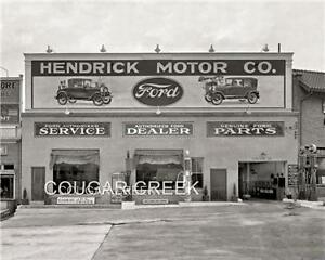 8x10 hendrick motor co ford dealer gas pump 1928 photo ebay for Ford motor company dealerships
