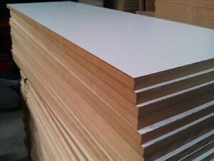 Job lot! 5 X MDF SHEETS M WHITE / PLAIN SHELVES FLOORING LOFT BOARDS SHEETS 280