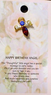 Thoughtful Little Angel Pin Happy Birthday Angelcs11 Ebay