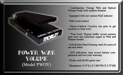 morley power wah volume wah guitar effect pedal for sale online ebay. Black Bedroom Furniture Sets. Home Design Ideas
