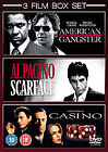 American Gangster / Scarface / Casino (DVD, 2009, 3-Disc Set, Box Set)