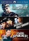Beowulf/ Sky Captain and the World of Tomorrow/ Lara Croft: Tomb Raider (DVD, 2009, 3-Disc Set)