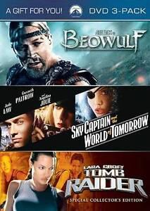 Beowulf/ Sky Captain and the World of Tomorrow/ Lara Croft: Tomb Raider (DVD, 20